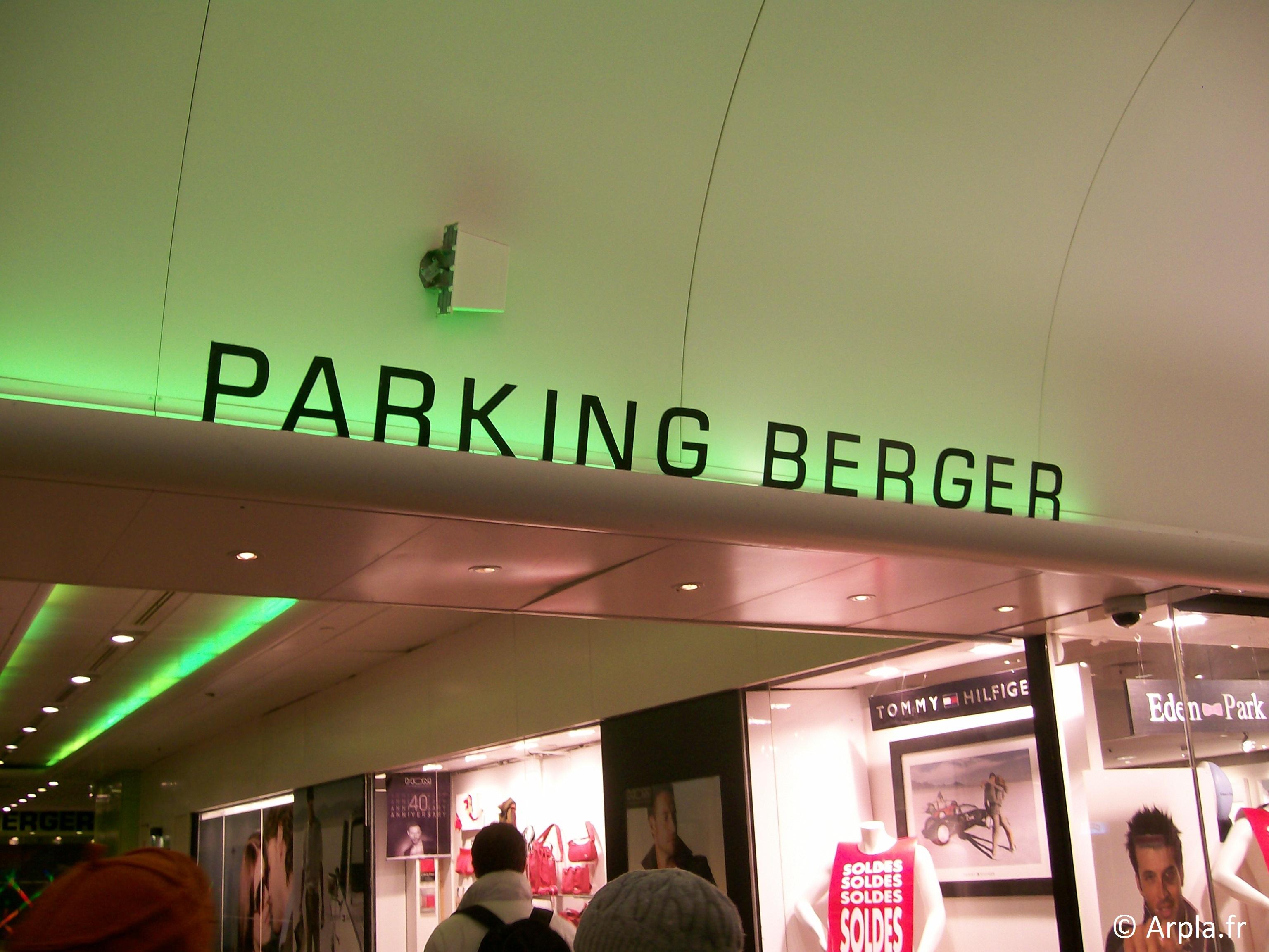 Parking Berger à Paris