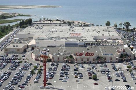 Centre commercial CAP 3000 à Saint-Laurent du Var