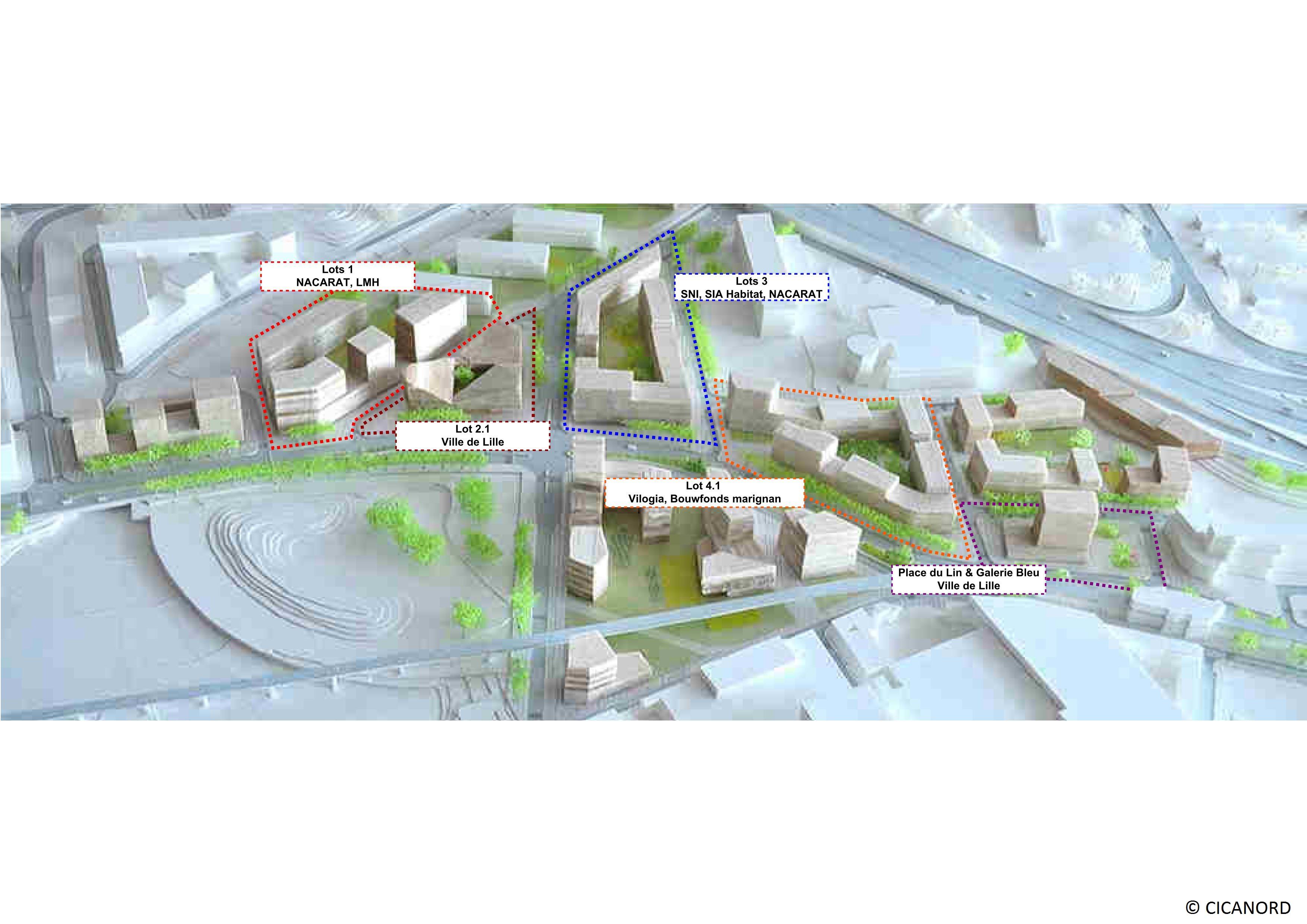 ZAC de la Porte de Valenciennes et ZAC du CIAG à Lille