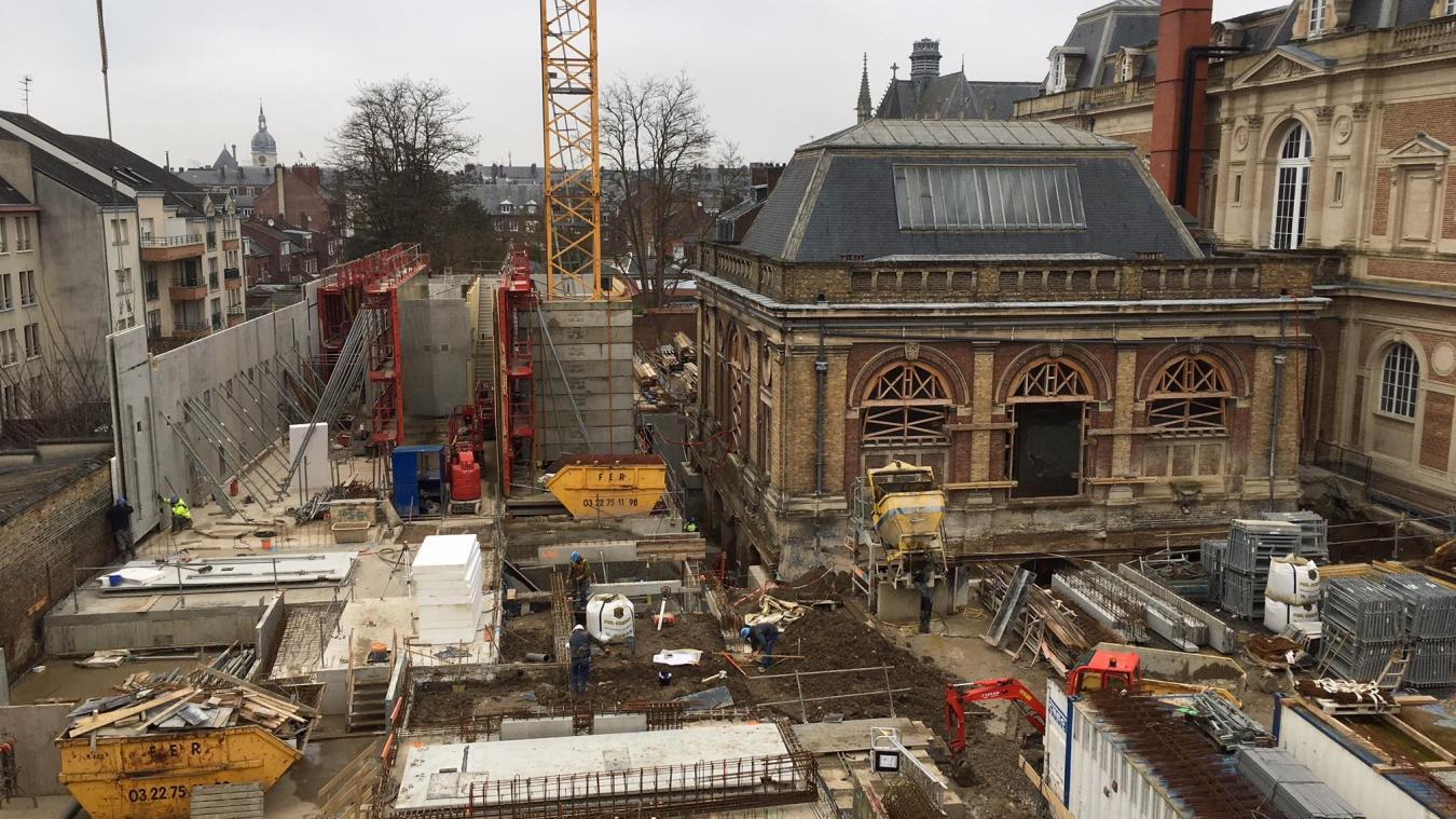 Point d'étape sur le chantier du musée de Picardie à Amiens-Courrier Picard 09-01-18